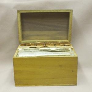 Vintage Wood Kitchen Recipes Box - Product Image