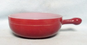 Glasbake Brown Handled Bowl with no Lid. - Product Image