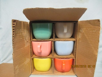 Glasbake 4 Pc Set Square Lipton Soup Mugs - Product Image