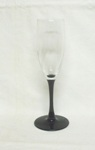 "Luminarc Black Amythest Stemed Footed 8"" Swirled Champaign - Product Image"