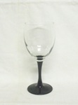 "Luminarc Black Amythest Stemed Footed 7 1/8"" Wine Glass - Product Image"