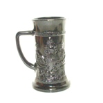 "Black Amythest 6"" Beer Stein w 3 Men Talking - Product Image"