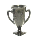 "Black Amythest Footed 7"" Hdl Vase W Dancing Nymphs - Product Image"