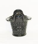 Black Amythest Fenton Basketweve Basket Vase - Product Image