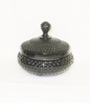 "Black Amythest 5"" Hobnail Candy & Lid - Product Image"
