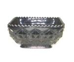 "Black Amythest 5 1/2"" Square Ftd. Diamond Quilt Bowl - Product Image"