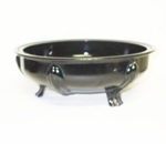 "Black Amythest 9"" 3 Footed Console Bowl - Product Image"