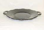 "Black Amythest 7"" Mt Pleasant Plate w Flat Handles - Product Image"