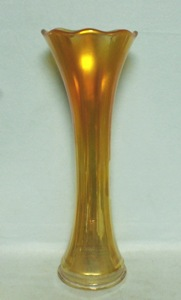 Imperial Carnival Marigold to Clear Smooth Panels Vase - Product Image