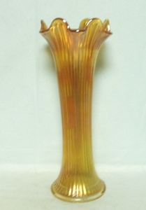 Northwoods Carnival Marigold Fine Rib Vase - Product Image