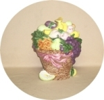 Heritage Mint Basket Of Fruit Cookie Jar - Product Image