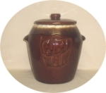 McCoy Dark Brown Drip Canister Cookie Jar - Product Image