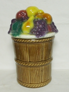 Morton Pottery Fruit Basket Cookie Jar - Product Image