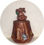 Calfornia Originals Rabbit on Stump Cookie Jar - Product Image
