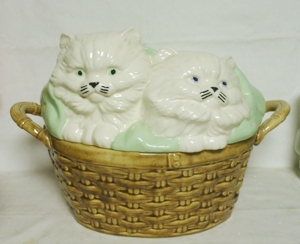Basket of Kittens Large Cookie Jar - Product Image