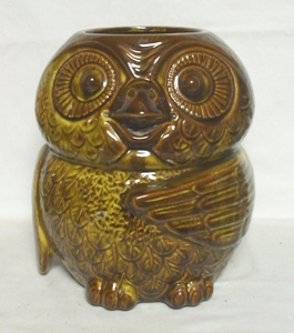 McCoy Dark Brown Owl Cookie Jar no Lid - Product Image