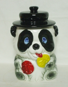 Made in Japan Panda Bear w Hat Cookie Jar - Product Image