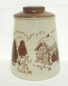 Pokee 50s Gay Fad Gingerbread House Cookie Jar - Product Image