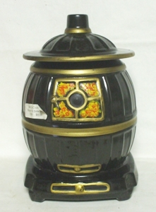 McCoy Black Pot Bellied Stove Cookie Jar - Product Image