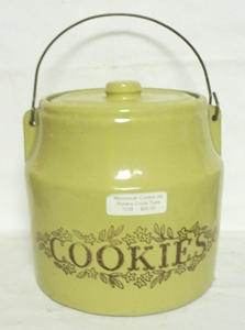 Monmouth Pottery Crock Type Cookie Jar - Product Image