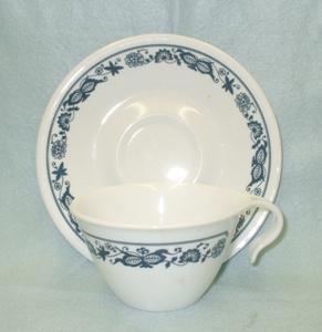 Corelle Old Town Blue Corelle Cup & Saucer Set - Product Image