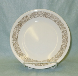 "Corelle Woodland Brown 6 3/4"" Bread Plate - Product Image"