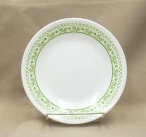 "Corelle Lt. Green Summer Impressions 6 3/4"" Bread Plate - Product Image"