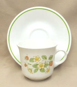 Corelle Strawberry Sunday Cup & Saucer Set - Product Image