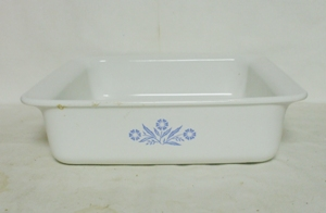 "Corning Blue Cornflower 8"" Square Cake,Utility Dish - Product Image"