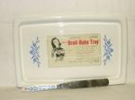 "Corning Blue Cornflower 16"" Broil,Bake Tray - Product Image"