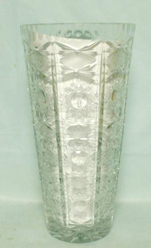 """Lead Crystal 10"""" Tall Starburst Vase - Product Image"""