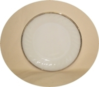 """Fire King Golden Anniversary Swirl 7 3/8"""" Salad Plate - Product Image"""