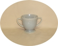 Fire King Gray Laurel Sugar Bowl - Product Image