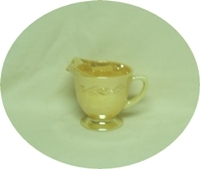 Fire King Peach Lustre Laurel Creamer - Product Image
