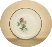 "Fireking Anniversary Rose 10""Dinner Plate - Product Image"