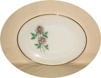 "Fireking Anniversary Rose 9"" x 12""Oval Platter - Product Image"