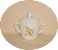 Fire King Wheat Sugar Bowl & Lid - Product Image