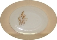 "Fire King Wheat 9"" x 12"" Oval Platter - Product Image"