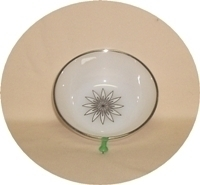 "Fire King Vienna Lace 4 5/8"" Dessert Bowl - Product Image"