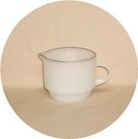 Fire King Vienna Lace Creamer. - Product Image