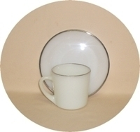 Fire King Vienna Lace Cup & Saucer Set - Product Image
