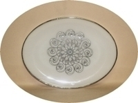 """Fire King Vienna Lace 9"""" x 12"""" Serving Platter - Product Image"""