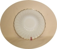 """Fire King Anchorwhite w Gold Trim Shell 6 3/8""""Cereal Bowl - Product Image"""