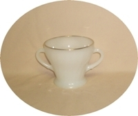 Fire King Anchorwhite w Gold Trim Shell Sugar no Lid - Product Image