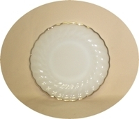 """Fire King Anchorwhite w Gold Trim Shell 7 1/4""""Salad Plate - Product Image"""