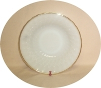 "Fire King Anchorwhite w Gold Trim Shell 8 1/2""Vegetable Bowl - Product Image"