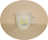 Fire King Forget-Me-Not Creamer - Product Image