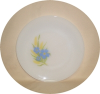 """Fire King Forget-Me-Not 9 1/8"""" Dinner Plate - Product Image"""