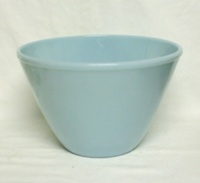 "Fire King Turquoise Blue 8 1/2"" Splash Proof Mixing Bowl - Product Image"