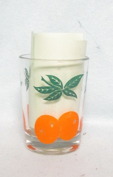 "Oranges Decoration Heavy Base 3"" Juice Glass - Product Image"